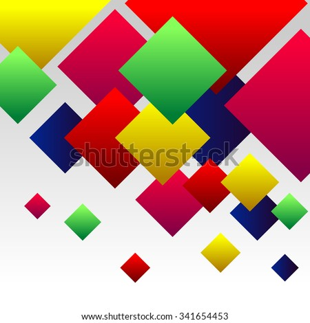 Abstract Background with Colorful Gradient Red, Blue, Green, Pink and Yellow Squares - stock photo