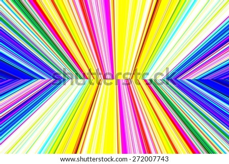 abstract background with colorful vertical lines, perspective with radial blur - stock photo