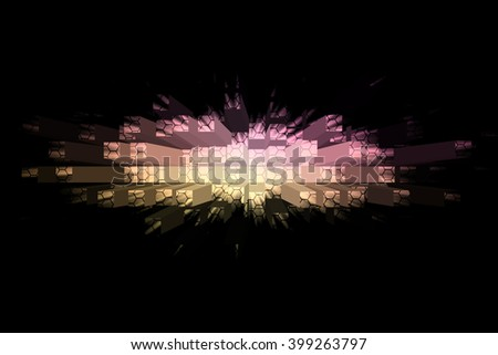 Abstract background with cubes and squares - stock photo