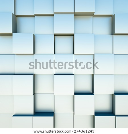Abstract background with cubes. 3D render. - stock photo