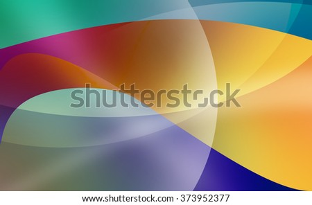abstract background with curved lines and layers pattern, bright bold colorful shapes in vibrant orange yellow pink blue and green, abstract wavy lines and shapes in modern art style design - stock photo