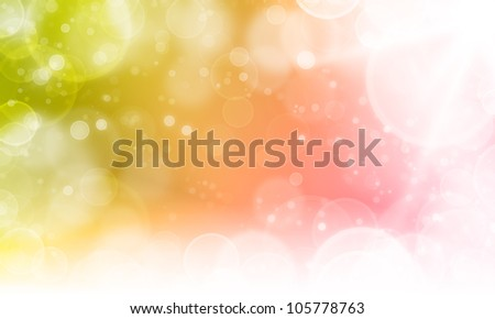 abstract background with cycle bokeh lights and stars - stock photo