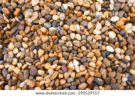 Abstract background with decorative floor pattern of gravel stones, Gravel texture - stock photo