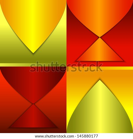 Abstract background with fish silhouettes. Rasterized version - stock photo