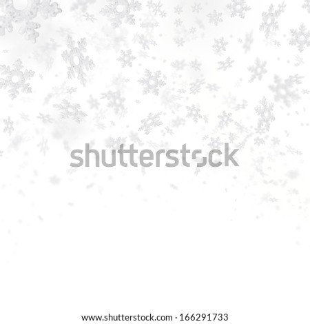 Abstract background with flying snowflakes - stock photo