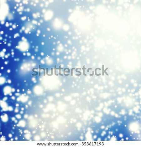 Abstract background with glitter bokeh lights. Image is blurred and filtered. Christmas Card - stock photo