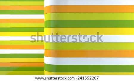 abstract background with glossy plastic stripes in perspective - stock photo