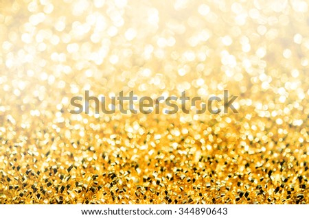 abstract background with golden twinkle. - stock photo