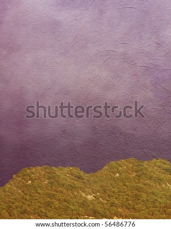 abstract background with gree mountain - stock photo