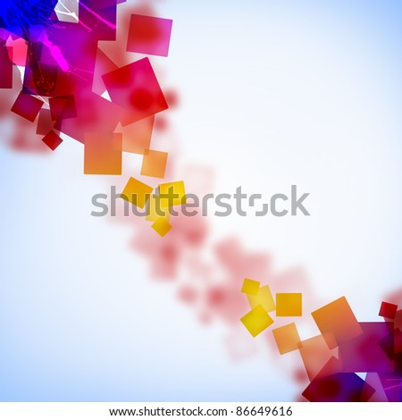 abstract background with green, pink, purple elements - stock photo