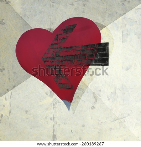 Abstract background with heart. - stock photo