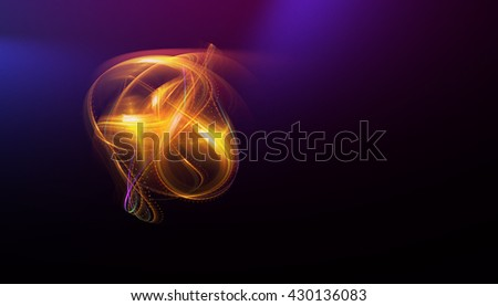Abstract background with luminous swirling backdrop. Glowing spiral. The energy flow tunnel. shine round frame with light circles light effect. glowing cover. Space for your message. - stock photo