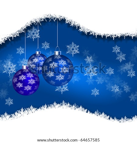 Abstract background with New Year's toys on the new year. Happy New Year and Merry Christmas! - stock photo
