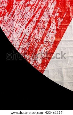 Abstract Background with Old Torn Posters - Graphic Design - stock photo