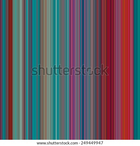Abstract Background with Pixels of Small Width, thin Red and Turquoise color strips, illustration - stock photo