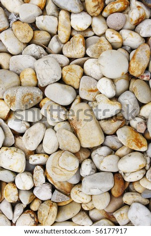 abstract background with round pebble stones - stock photo