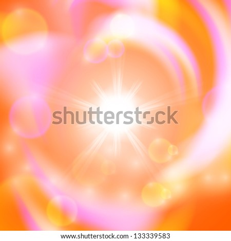 Abstract background with sun. Raster version of the loaded vector. - stock photo