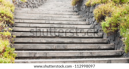 Abstract background with the stone stairs - stock photo