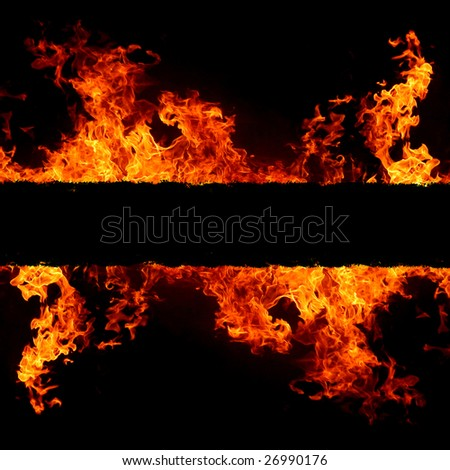 abstract background with vivid hot fire flames - copyspace for your text - stock photo