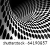 abstract background with waves and circles - stock photo
