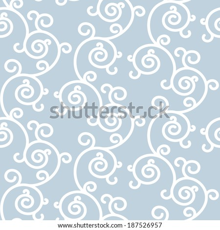 Abstract background with white ornament. Seamless floral background can be used for pattern fills, web design, printing, textures, banners, sign, textile, wallpaper.  Raster version. - stock photo