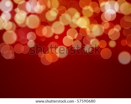 Abstract background - xmas lights - stock photo