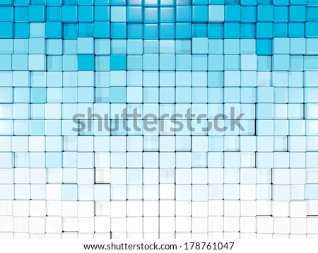 Abstract backround with square elements - stock photo