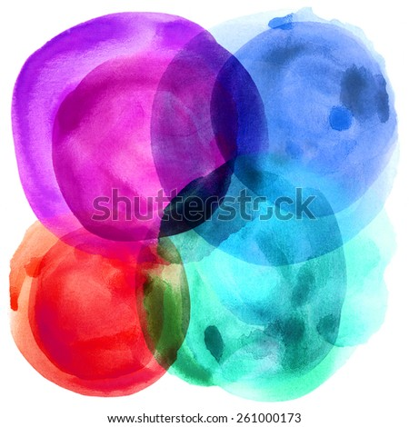Abstract balloon paint on white paper - stock photo