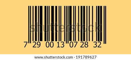 Abstract barcode security pattern background  with old photo texture - stock photo