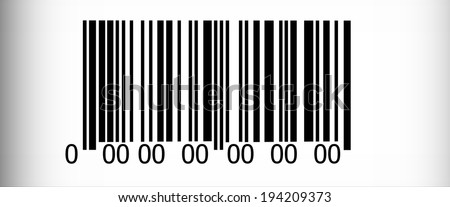 Abstract barcode security pattern  on white background with black vignette - stock photo