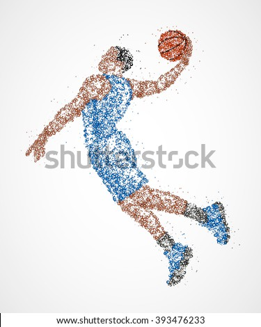 abstract, basketball, athlete - stock photo