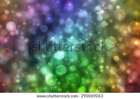 Abstract Beautiful Natural Glitter Snowflake Rainbow Vintage Tone Bokeh Texture Background - stock photo