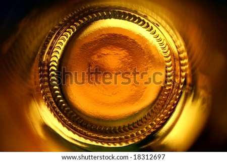 abstract beer bottle - stock photo
