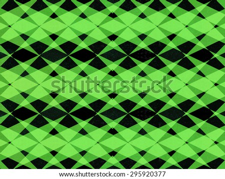 Abstract black and green textured pattern background - stock photo