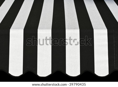 Abstract Black and White Awning - stock photo
