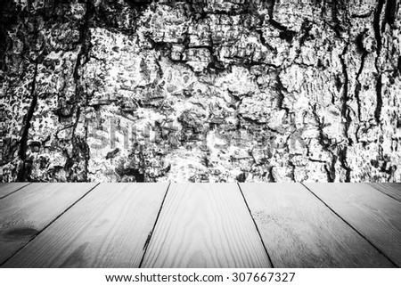 Abstract Black and White tree bark texture and Wood Texture for Background. - stock photo