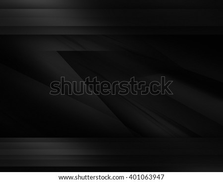 Abstract black background illustration with dark elements - stock photo