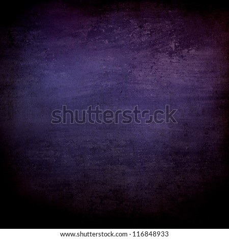 abstract black background or purple blue background with lots of rough distressed vintage grunge background texture design, elegant blank background, black border edges with center spotlight text area - stock photo