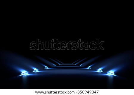 Abstract black background with a vertical 3D illumination - stock photo