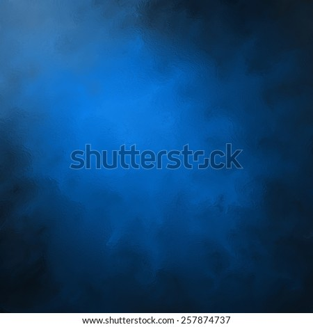 abstract black blue background, elegant gloss or glass textured brush strokes, painted black and blue wall with corner spotlight and dark shadows  - stock photo