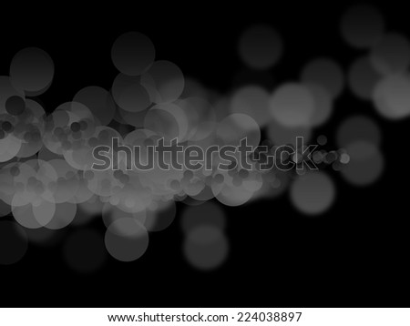 Abstract black bokeh circles - stock photo