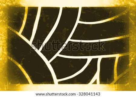 abstract black, golden background pattern - stock photo