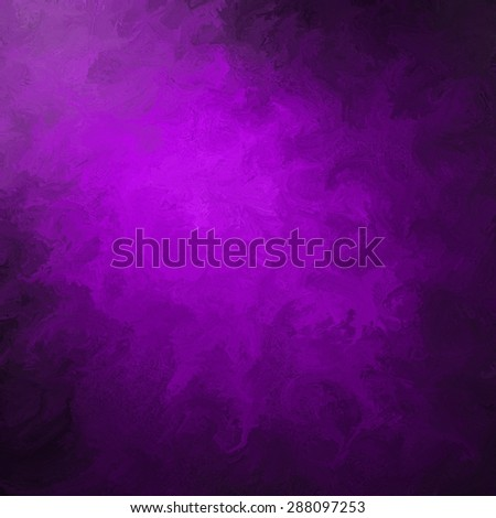 abstract black purple background, elegant unique swirl design textured brush strokes, painted black and purple wall with corner spotlight and dark shadows  - stock photo