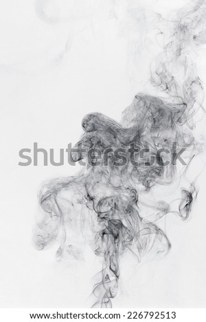 abstract black smoke on a white background - stock photo