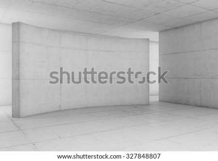 Abstract blank white space of empty white room with white concrete walls. Modern white concrete background. - stock photo
