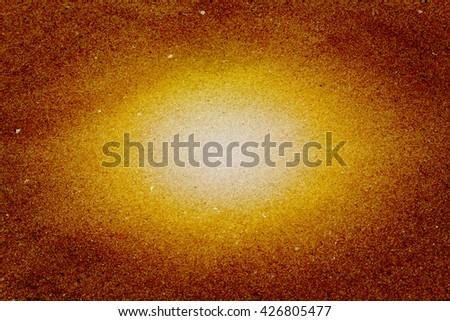 Abstract blaze golden light background, golden light wall - stock photo