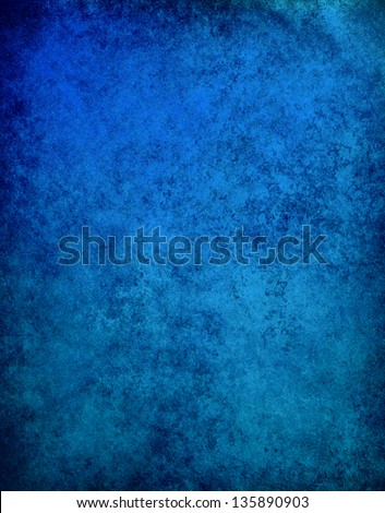 abstract blue background cracked paint wall black frame vintage grunge background texture, distressed dark border, website template background design layout, sapphire blue paper graphic art image - stock photo