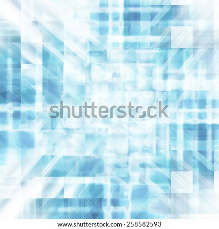 abstract blue background of glossy squares - stock photo