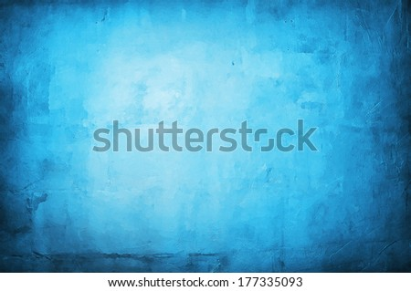 Abstract blue background with bright center - stock photo