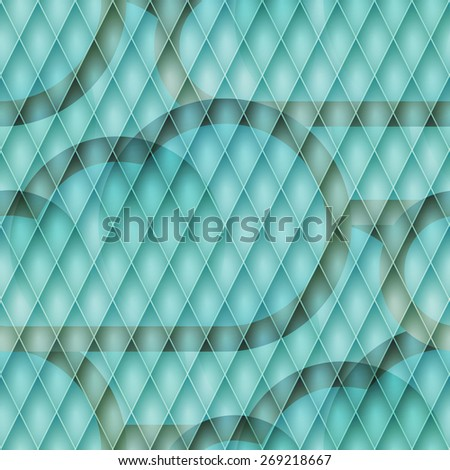 abstract blue background with cloudscape over grate texture - stock photo